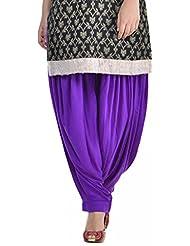 Sohniye Women's Viscose Patiala [GAKP18_Purple_Free Size]