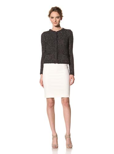 Les Copains Women's White Label Lame Jacket (Asphalt)
