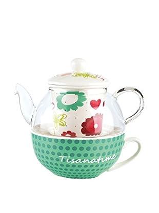 Tognana  Tee Service 2 tlg. Set Elisir weiß/mehrfarbig