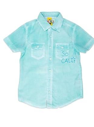Naf Naf Chevignon Camisa Bolsillos (verde agua)