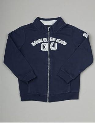 Calvin Klein Jeans Longsleeve Zip Jacke (Dunkelblau)