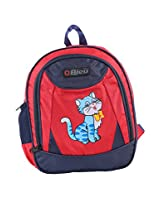 School Bag Small - Red & blue 17