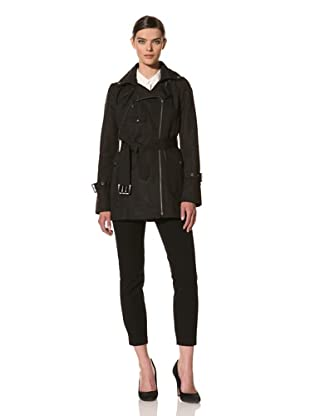 Andrew Marc Women's Sharon Belted Trench Coat (Black)