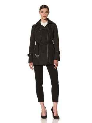 Andrew Marc Women's Sharon Belted Trench Coat (Black)