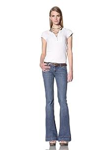DL 1961 Premium Denim Women's Roxy Kick Flare Jean (Woodstock)