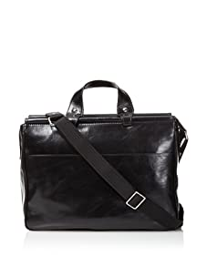 Bosca Men's Dowel Bag, Black