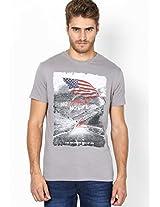 Light Grey Round Neck T-Shirt