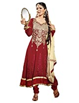 atisundar gorgeous Red Embroidered Anarkali- 4128_39_308