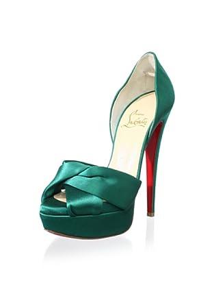 Christian Louboutin Women's Peep-Toe Platform Pump (Green)