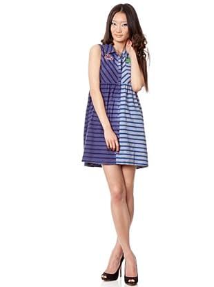 Custo Vestido Roly (Azul / Gris)
