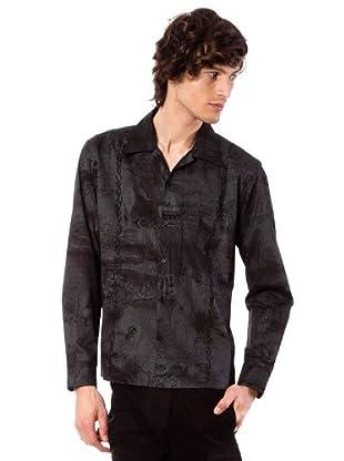 Custo Camisa (Negro / Gris)