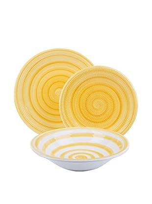 Soul Kitchen Geschirr 18 tlg. Set Old Italy gelb