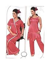 Indiatrendzs Women's Sexy Hot Nighty Dress 2pc Set -Freesize