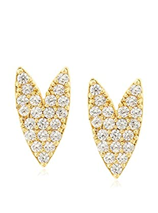 Tai 18K Gold-Plated CZ Spiked Heart Earrings