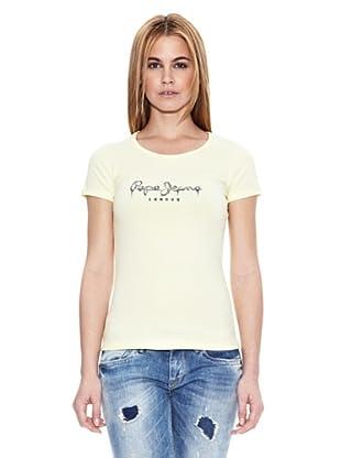 Pepe Jeans London Camiseta Rose (Amarillo Claro)