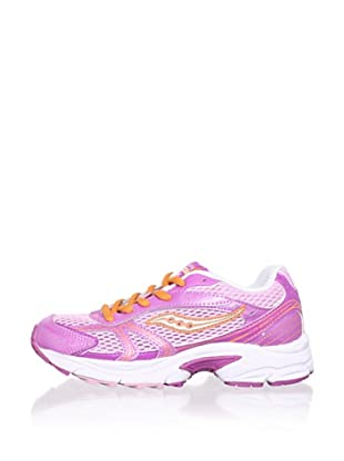 Saucony Kid's Cohesion 4 LTT Athletic Shoe (Toddler/Little Kid/Big Kid) (Beet/Silver)