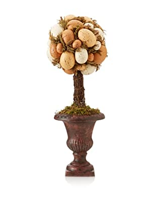 Faux Farm Fresh Egg Topiary, Brown/Off-White