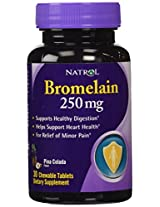 Natrol Bromelain - 250 mg - Chewable - 30 Tablets