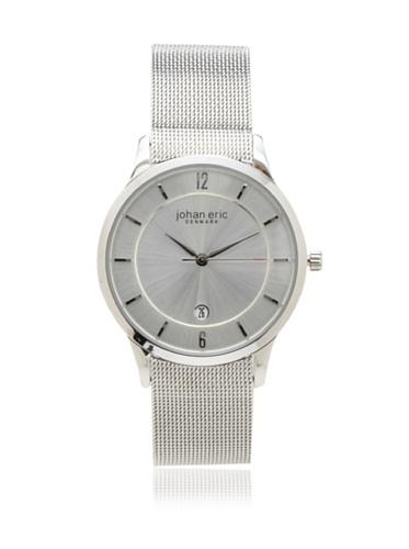 Johan Eric Men's JE2000-04-001 Silver Hobro Mesh Stainless Steel Watch