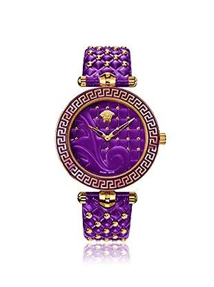 Versace Women's VK7120014 Vanitas Purple Leather Watch