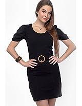 Black Solid Dress