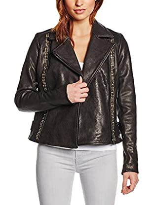 7 For All Mankind Lederjacke Embellished Biker