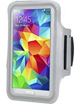 Callmate Armband For Samsung Galaxy S5/i9600 with Free Screen Guard - Grey (ABS5GR-SG)