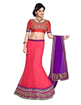 SURUPTA GORGEOUS TOMATO COLOR WEDDING PARTY WEAR Lehenga CHOLI