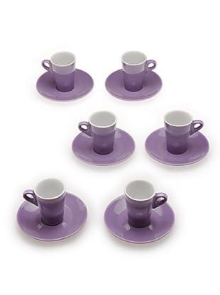 Tognana 6 Tazze Caffè Elegant (lilla)