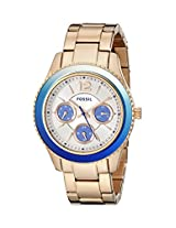 Fossil Womens ES3775 Stella Analog Display Analog Quartz Rose Gold Watch