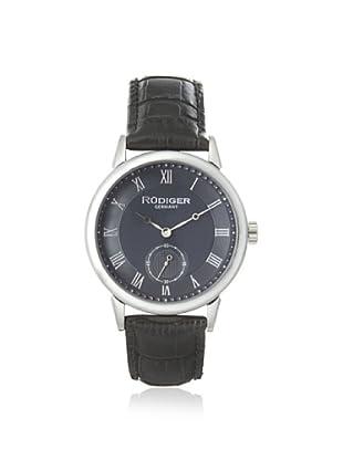 Rudiger Men's R3000-04-011L Leipzig Grey Dial Leather Watch
