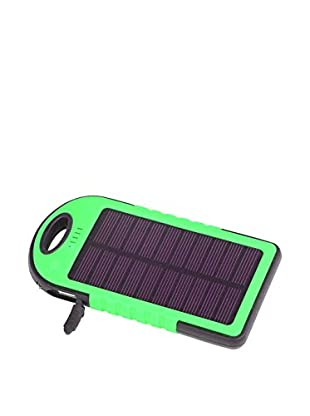 iPM 5000 mAh Solar Powered Flash Charger for Smartphones, Green