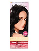 L'Oreal Paris Excellence Hair Color Small Pack No.1, Natural Black
