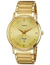 Timex Classics Analog Gold Dial Men's Watch - TI000R421