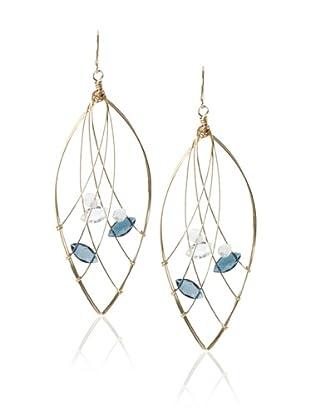 Misha London Blue Topaz Web Marquis Earrings