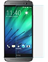JAIFAON Premium HTC Desire 620G Tempered Glass Screen Protector Scratch Guard (Clear)