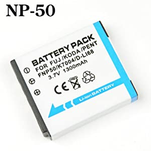 【クリックで詳細表示】フジフィルム 互換 NP-50 バッテリー 電池 FUJIFILM FinePix F100fd、F200EXR、F300EXR、F305EXR