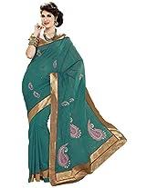 Aadarshini Women's Raw Silk Saree (110000000066, Blue)