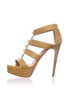 Ruthie Davis Women's Lounge Platform Sandal (Honey Multi)
