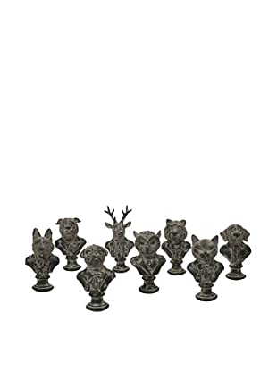 Set of 8 Assorted Jefferson Suited Animal Busts