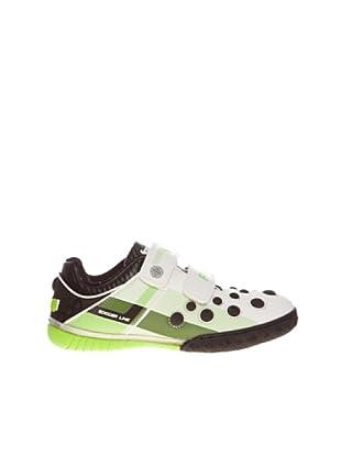 Fottgol Sneaker doppelter Klettverschluss (Weiß/Grün)