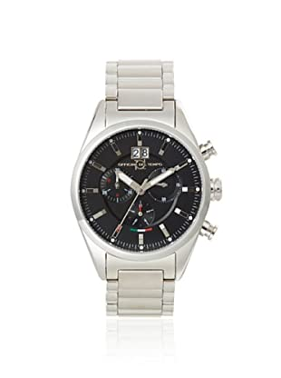 Officina del Tempo Men's OT1037/112N Elegance Silver/Black Stainless Steel Watch