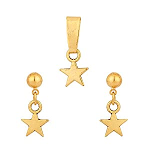 Voylla Star Shape Without Chain Pendant Set