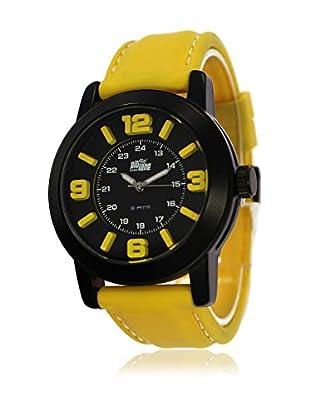 Pit Lane Uhr mit Miyota Uhrwerk Pl-3002-1 senf 44 mm