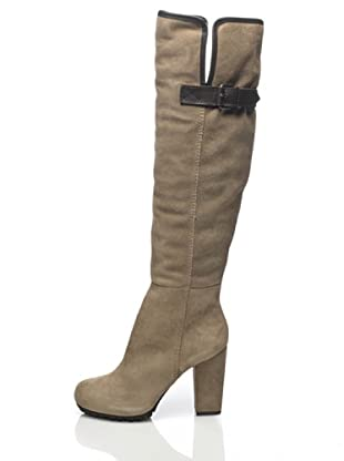Apepazza Botas Ribetes (Beige/Chocolate)