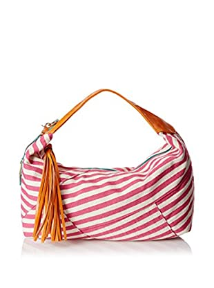 POVERTY FLATS by rian Women's Stripey Hobo, Pink/Orange