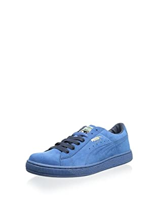 PUMA Men's Suede Classic Sneaker (Vallarta Blue/Midnight Navy)