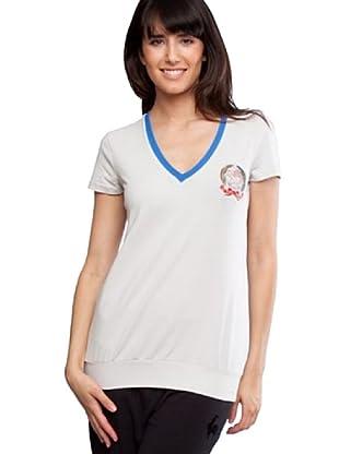 Le Coq Camiseta Escudo (Gris Claro)