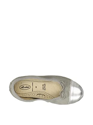 Old Soles Kid's Breeze Ballet Flat (Elephant Grey/Silver)