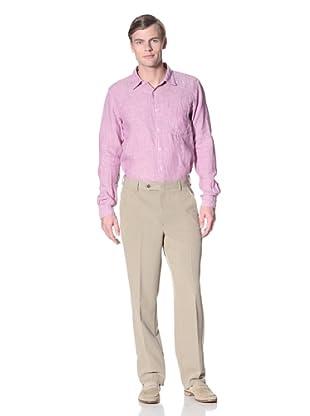 Corbin Men's Dreamweave Flat-Front Trousers (Light Tan)